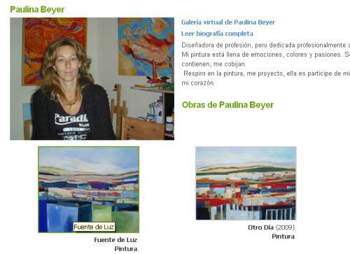 """Galeria Virtuald de Paulina Beyer  http://galerias.artelista.com/montecatinicl/artistas/paulina-beyer-2/galeria-virtual"""