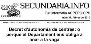 """""""Decret d'autonomia de centres"""""""